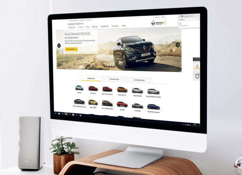 PPC kampaně pro autorizované dealery automobilů Renault