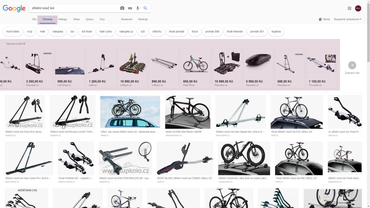 Google Nákupy v obrázcích Google